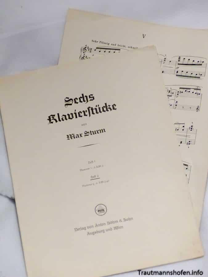 Trautmannshofen Max Sturm Klavierstücke Heft 2